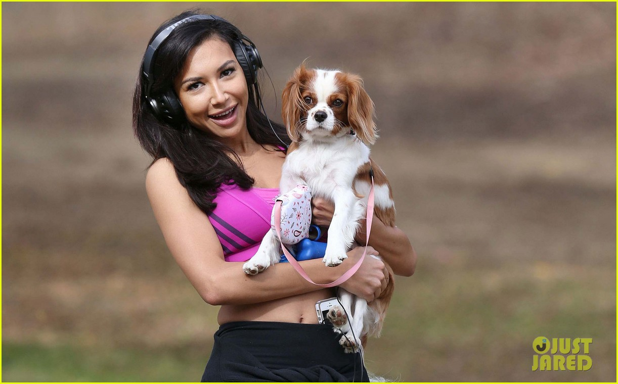 naya rivera abtastic workout before big sean date night 043005553