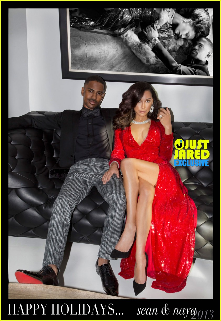 naya rivera big sean christmas card revealed exclusive3012184