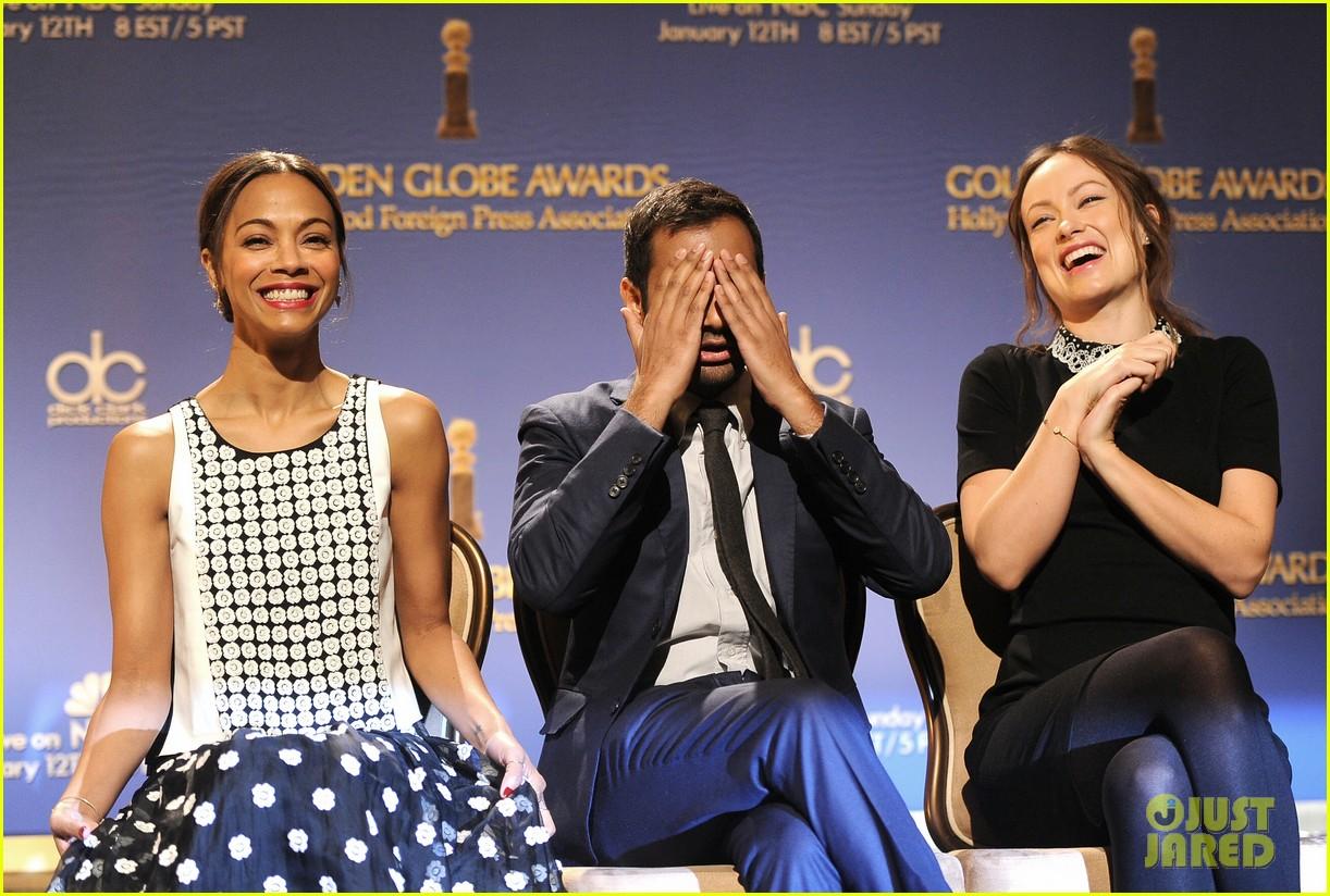 zoe saldana olivia wilde announce golden globe nominees 033010570