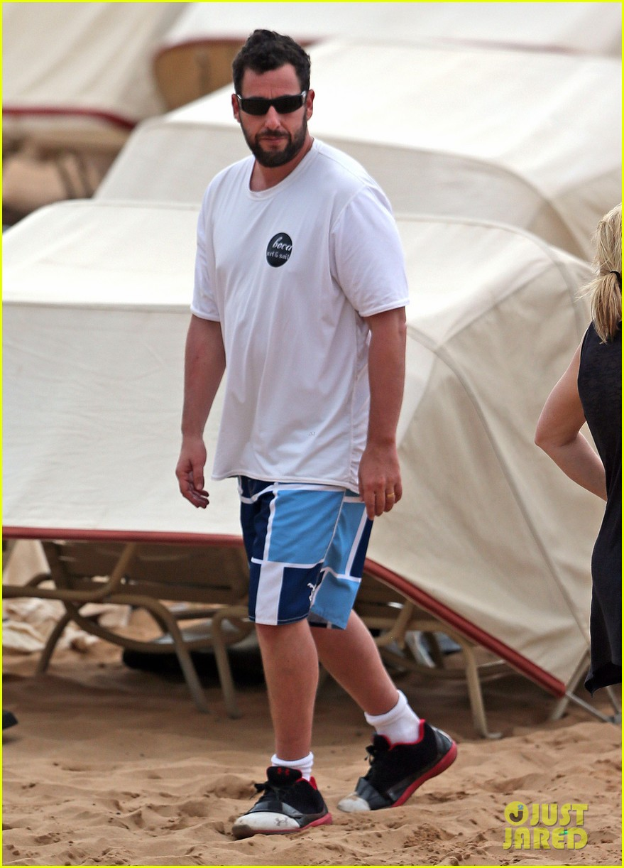 adam sandler spends relaxing beach day with wife jackie 033020371