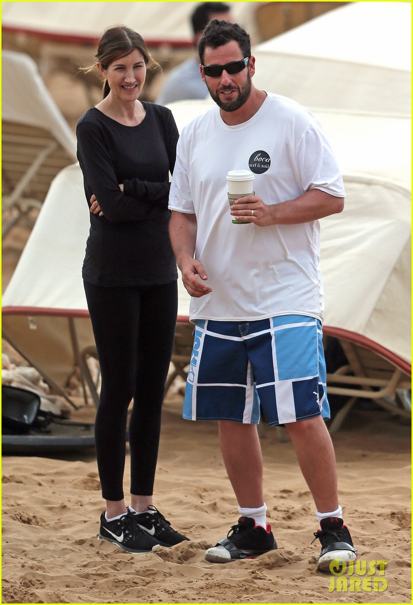 adam sandler spends relaxing beach day with wife jackie 053020373