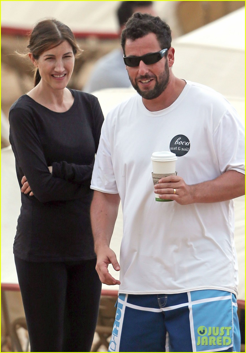 adam sandler spends relaxing beach day with wife jackie 063020374