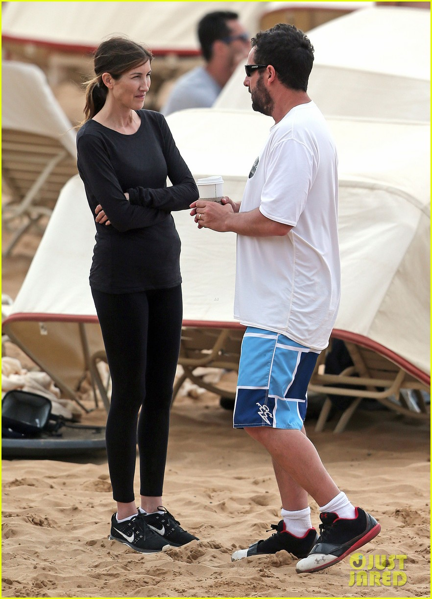 adam sandler spends relaxing beach day with wife jackie 083020376