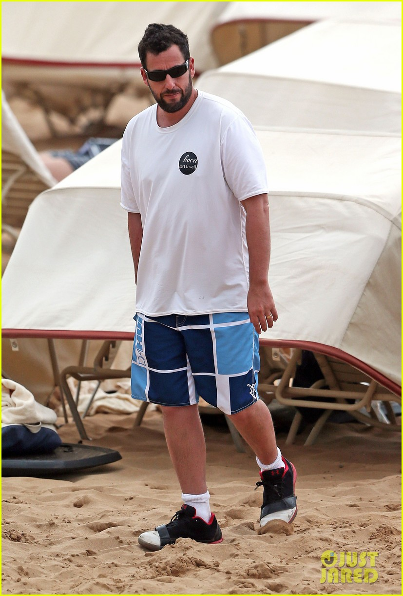 adam sandler spends relaxing beach day with wife jackie 10