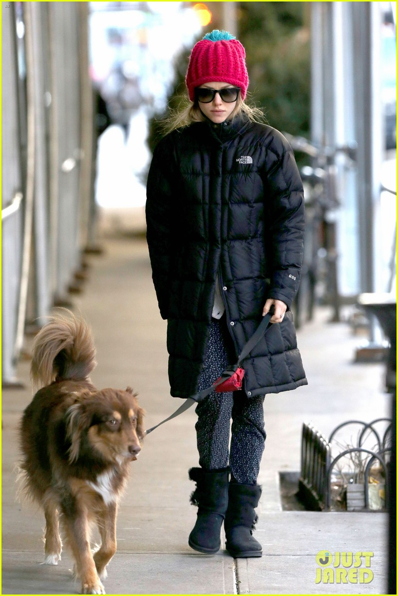 amanda seyfried monday morning dog walk with finn 033012974