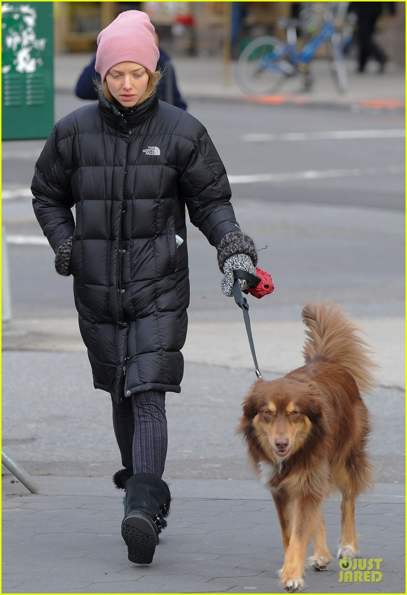 amanda seyfried post christmas pink walk with finn 013018746
