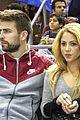 shakira courtside at barcelona basketball game 02