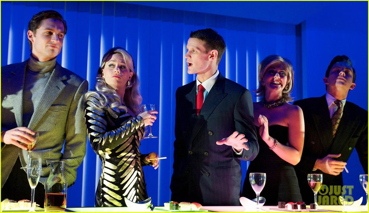 matt smith billie piper reunite at american psycho opening 073010983