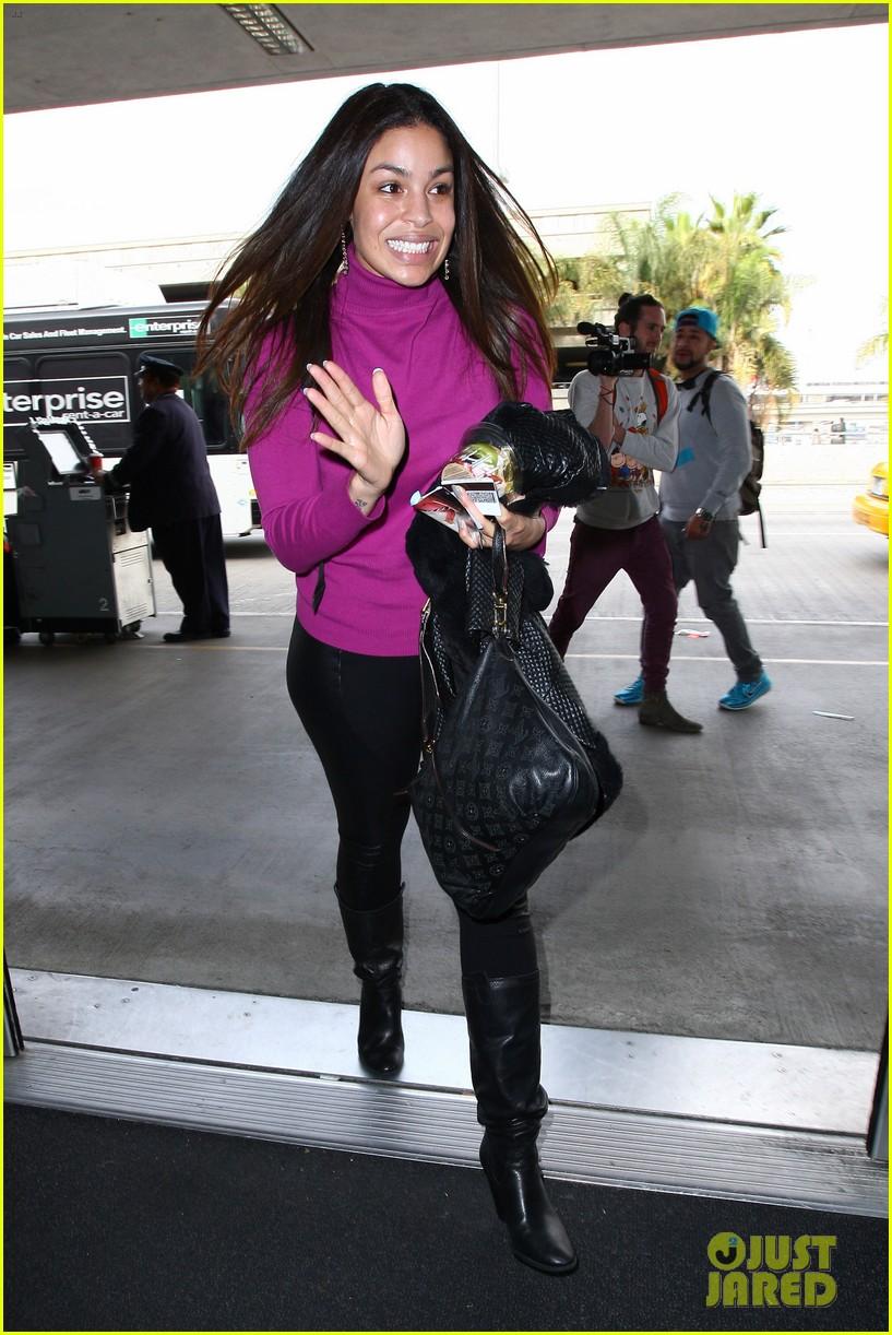 jordin sparks jennifer hudson idol ladies at lax airport 033014707