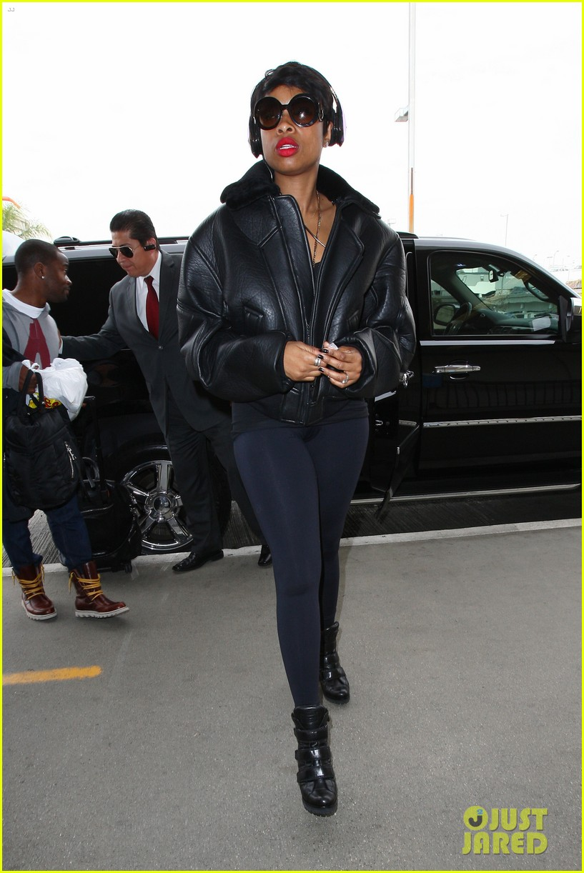 jordin sparks jennifer hudson idol ladies at lax airport 093014713