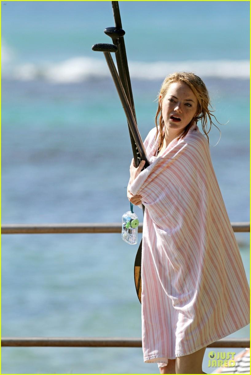 emma stone hawaiian paddle boarding babe 123012519