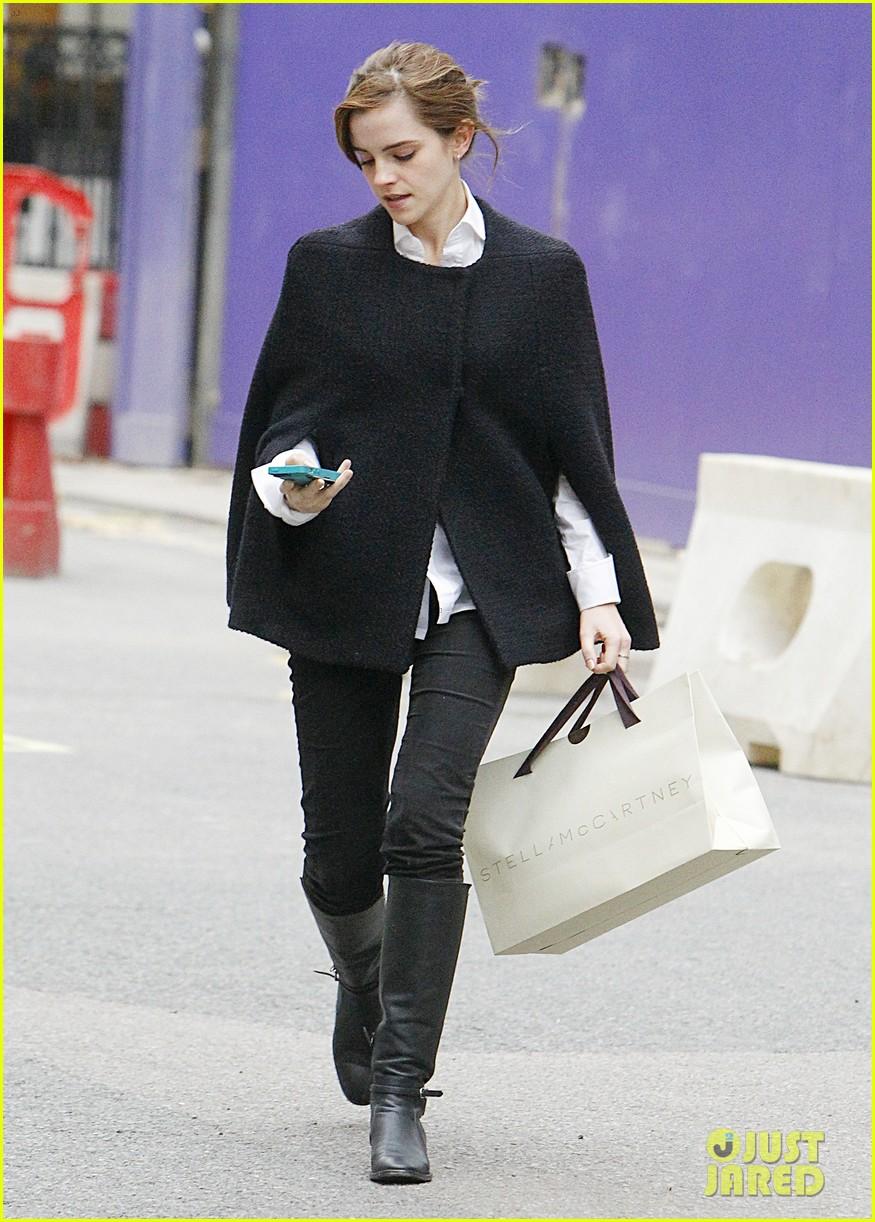 emma watson goes shopping at stella mccartney in london 023003391