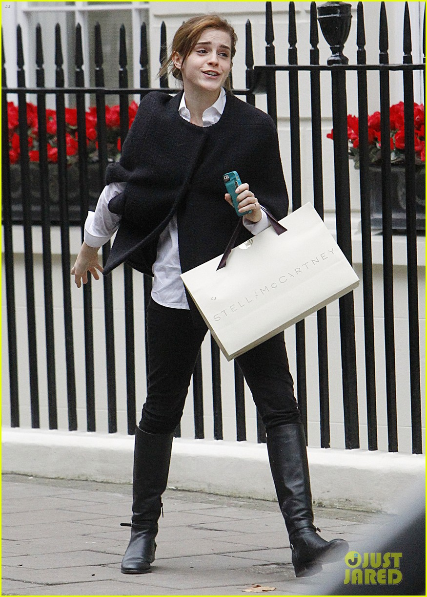 emma watson goes shopping at stella mccartney in london 033003392