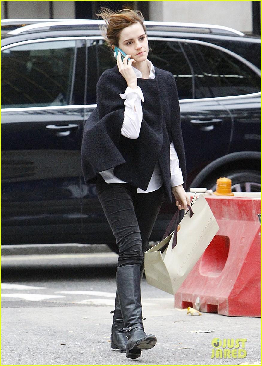 emma watson goes shopping at stella mccartney in london 043003393