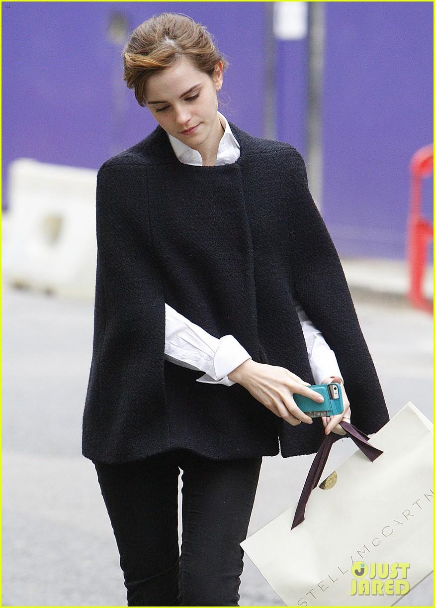 emma watson goes shopping at stella mccartney in london 053003394