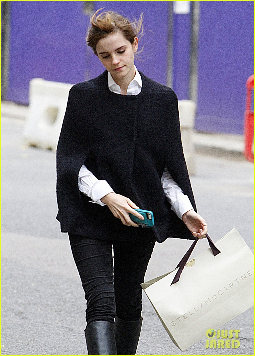 emma watson goes shopping at stella mccartney in london 063003395