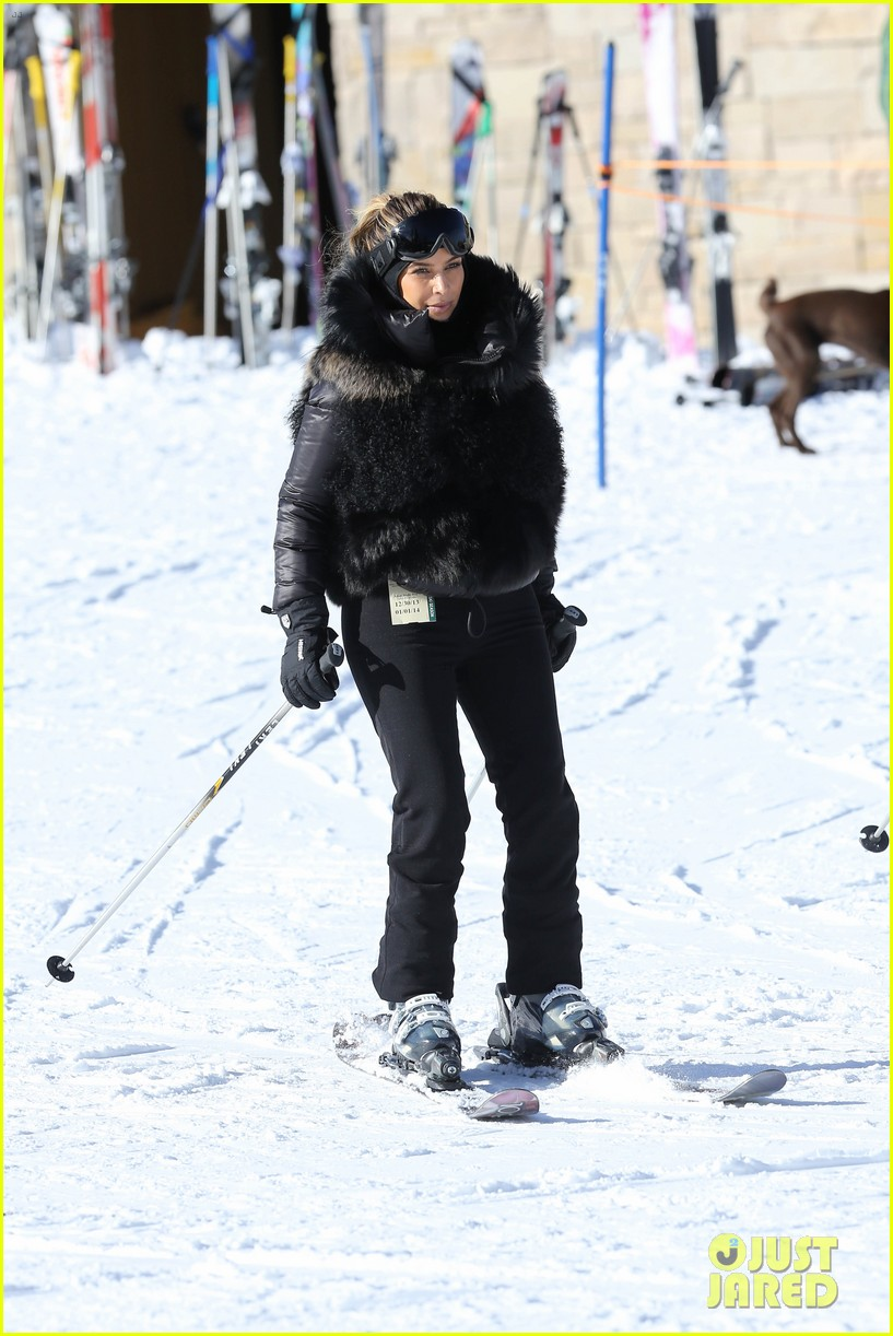 kanye west wears full face mask for skiing with kim kardashian 043019952