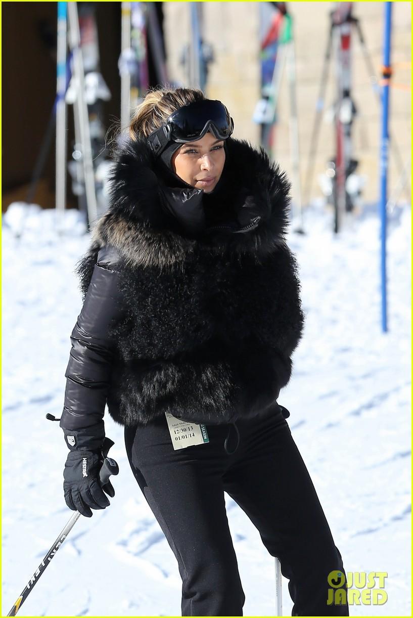 kanye west wears full face mask for skiing with kim kardashian 063019954