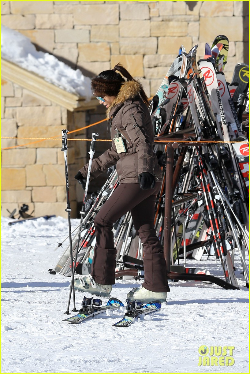 kanye west wears full face mask for skiing with kim kardashian 133019961