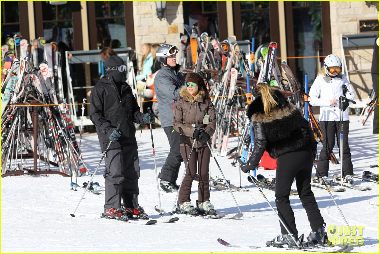 kanye west wears full face mask for skiing with kim kardashian 143019962