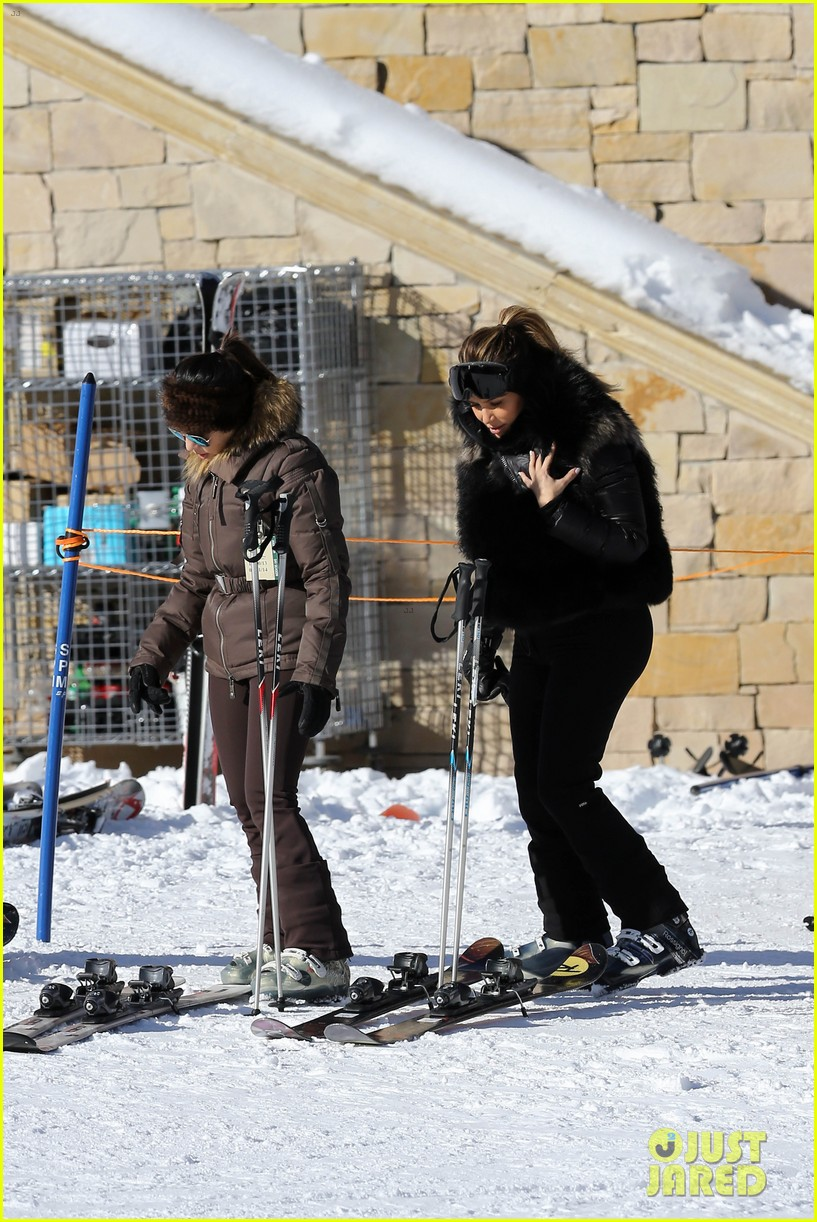 kanye west wears full face mask for skiing with kim kardashian 153019963