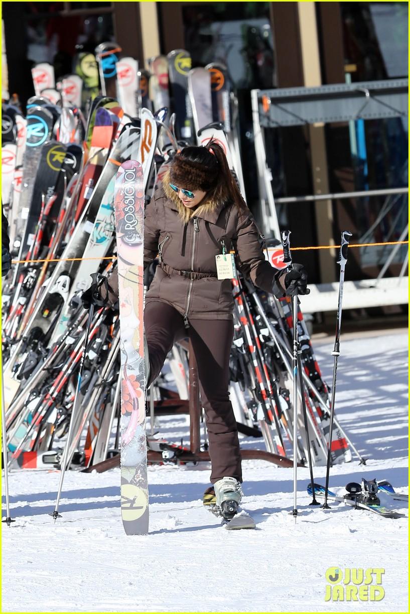 kanye west wears full face mask for skiing with kim kardashian 163019964
