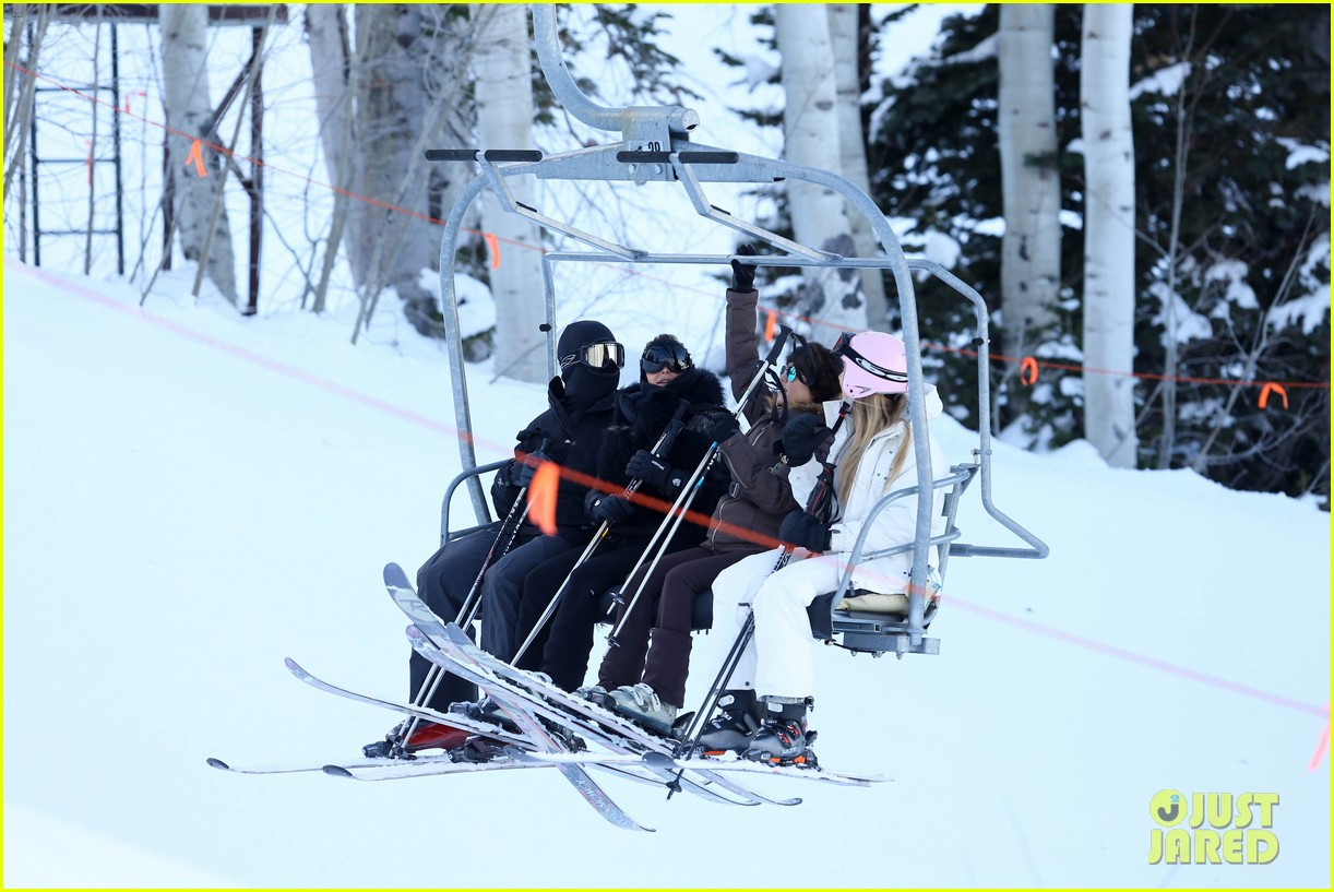 kanye west wears full face mask for skiing with kim kardashian 173019965
