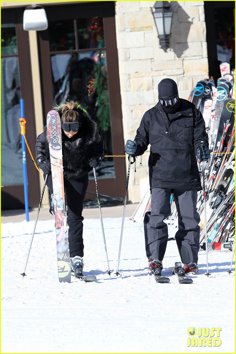 kanye west wears full face mask for skiing with kim kardashian 183019966