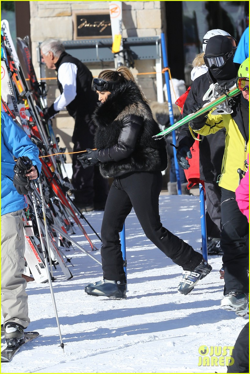 kanye west wears full face mask for skiing with kim kardashian 223019970
