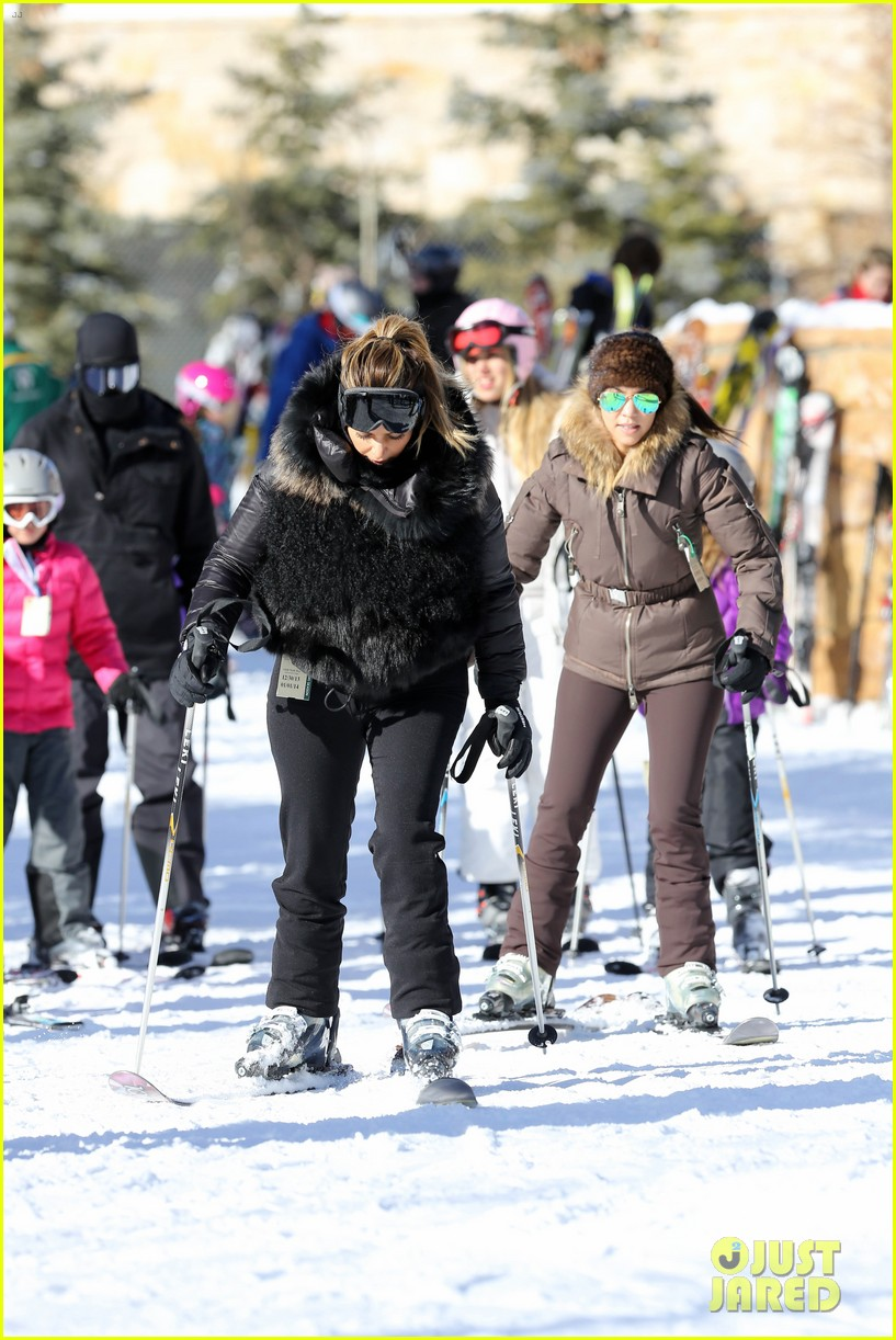kanye west wears full face mask for skiing with kim kardashian 233019971