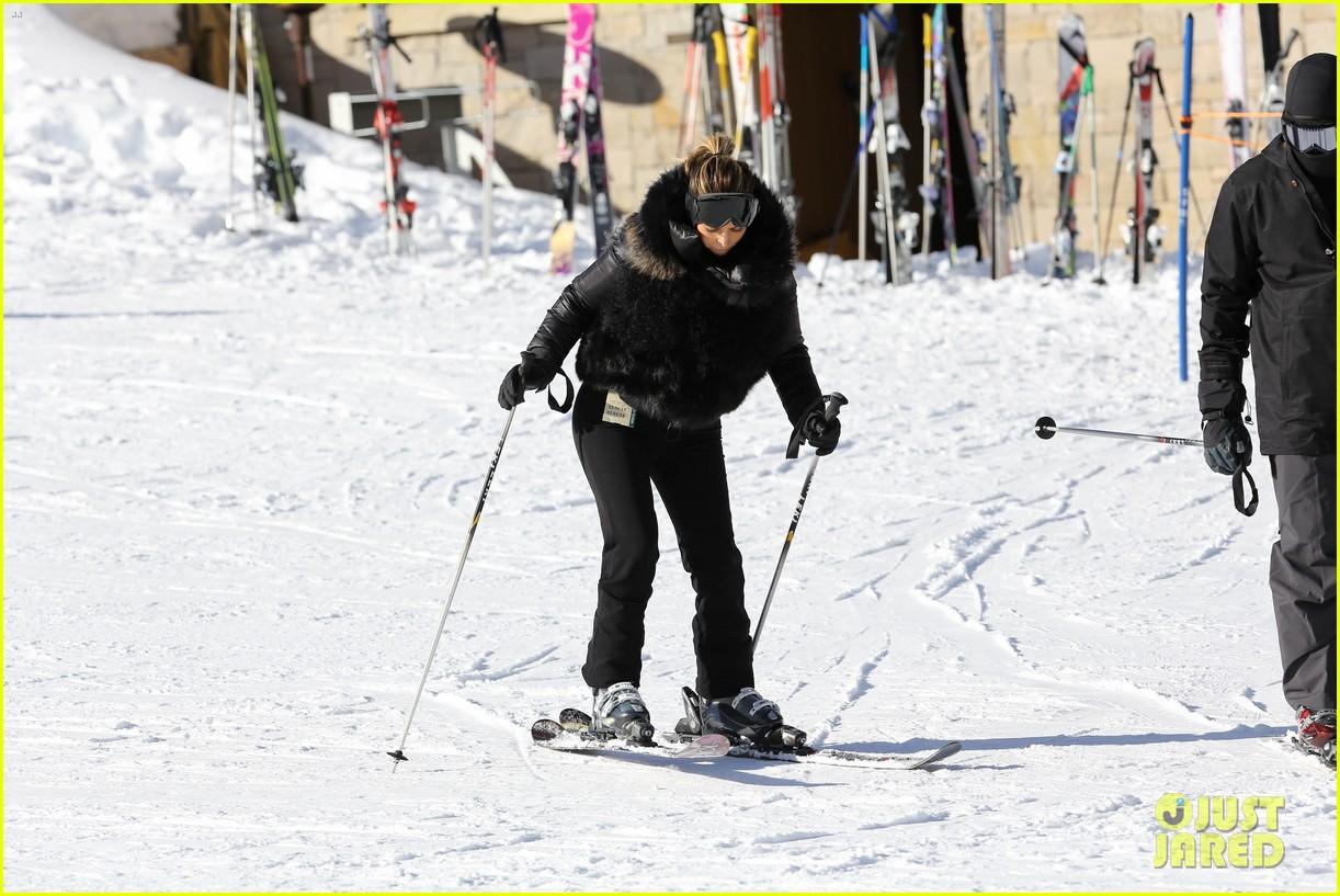 kanye west wears full face mask for skiing with kim kardashian 243019972