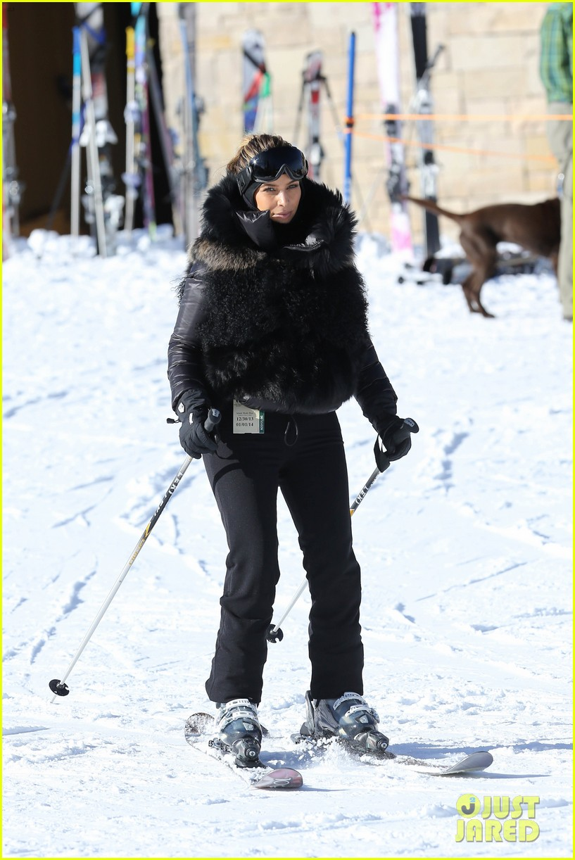 kanye west wears full face mask for skiing with kim kardashian 25