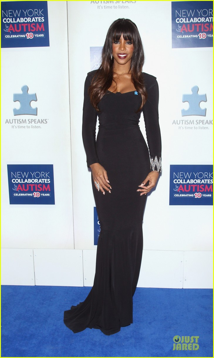 allison williams kelly rowland winter ball for autism 013004006