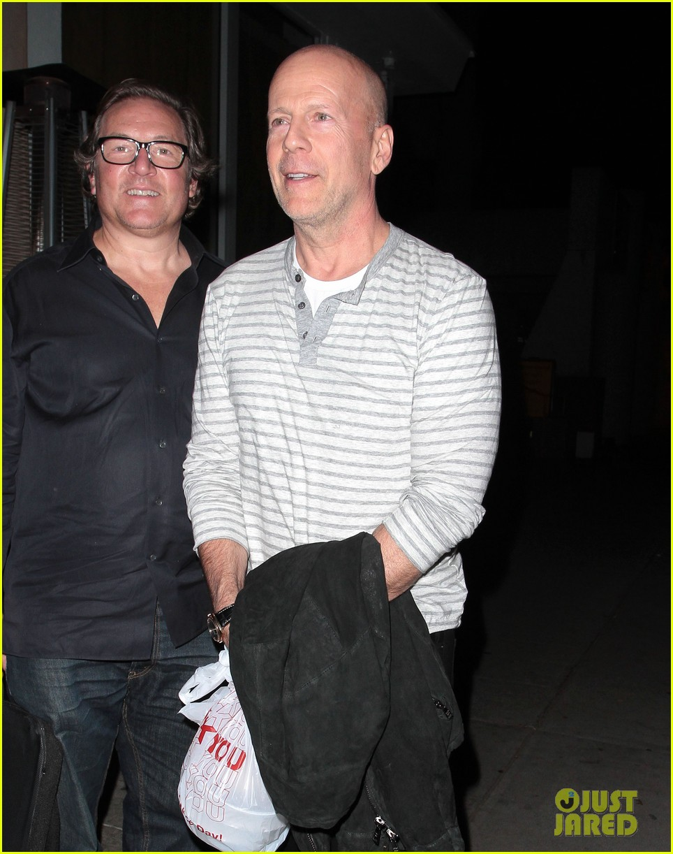 bruce willis dines with red producer after baby news 023014919