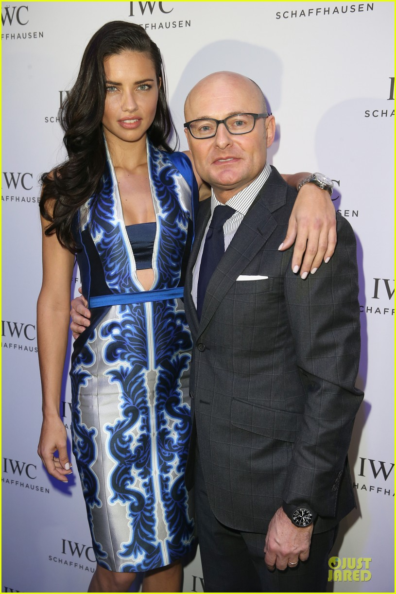 adriana lima karolina kurkova iwc aquatimer watch launch 17