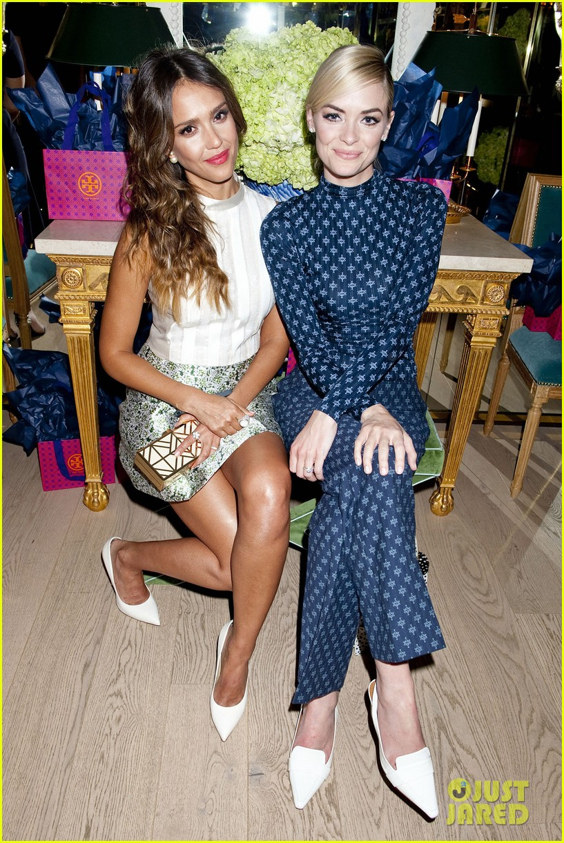 jessica alba jaime king tory burch flagship store opening 073031675