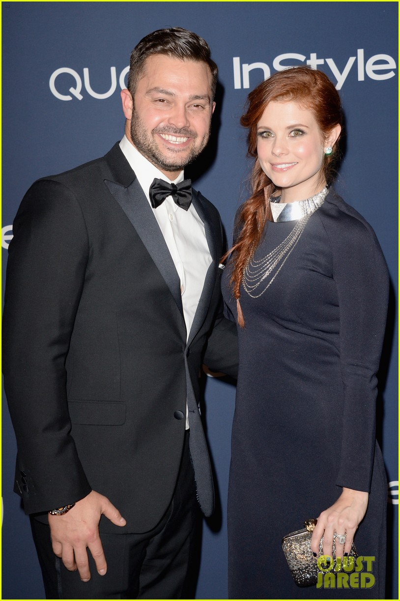 dave odette annable instyle golden globes party 2014 with joanna garcia 02