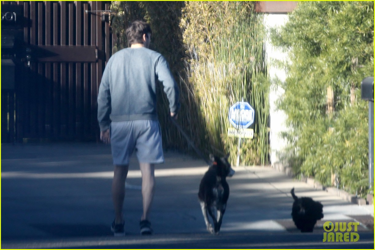ashton kutcher sunday morning dog duty 063023149