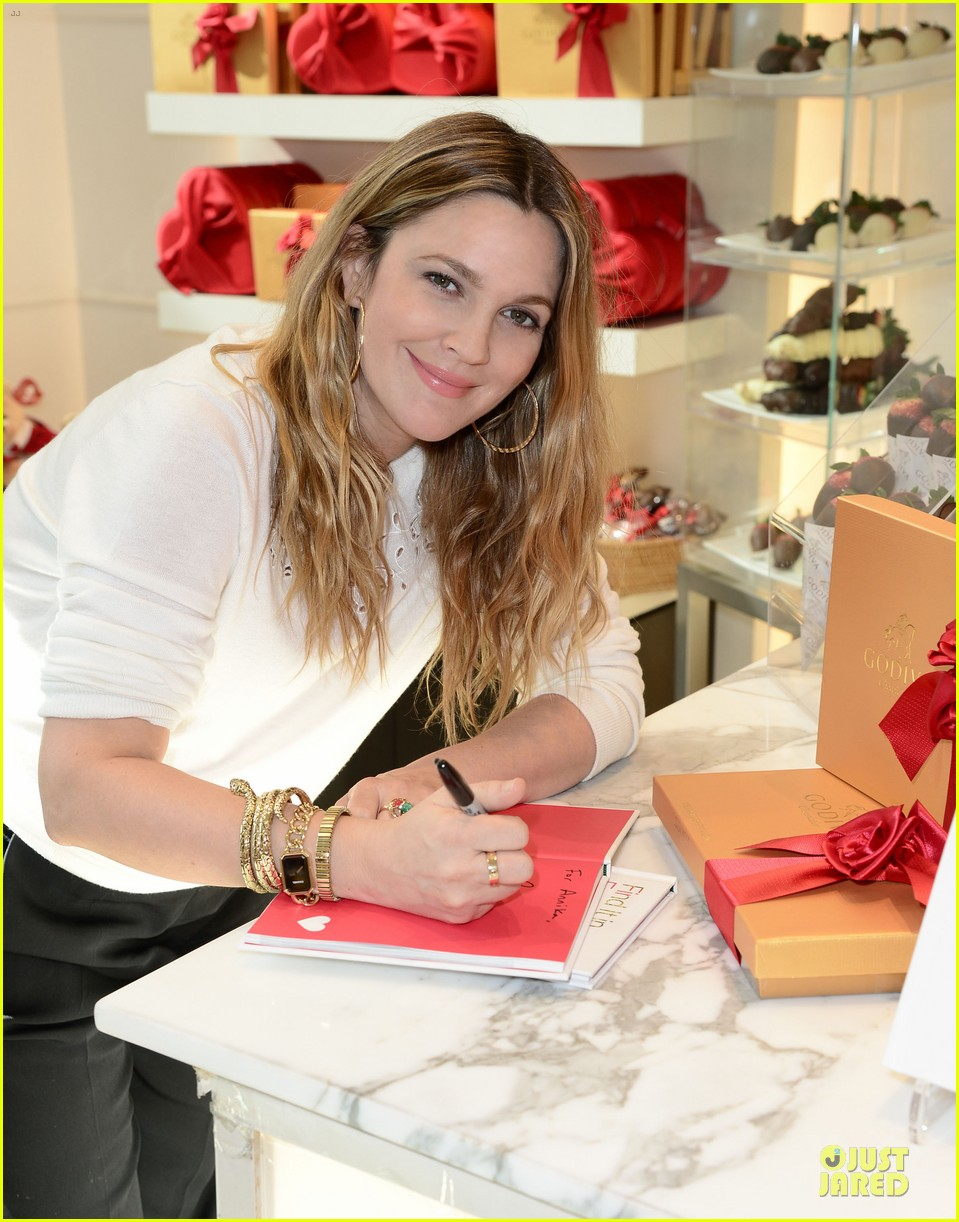drew barrymore partners with godiva to launch new book 043044231