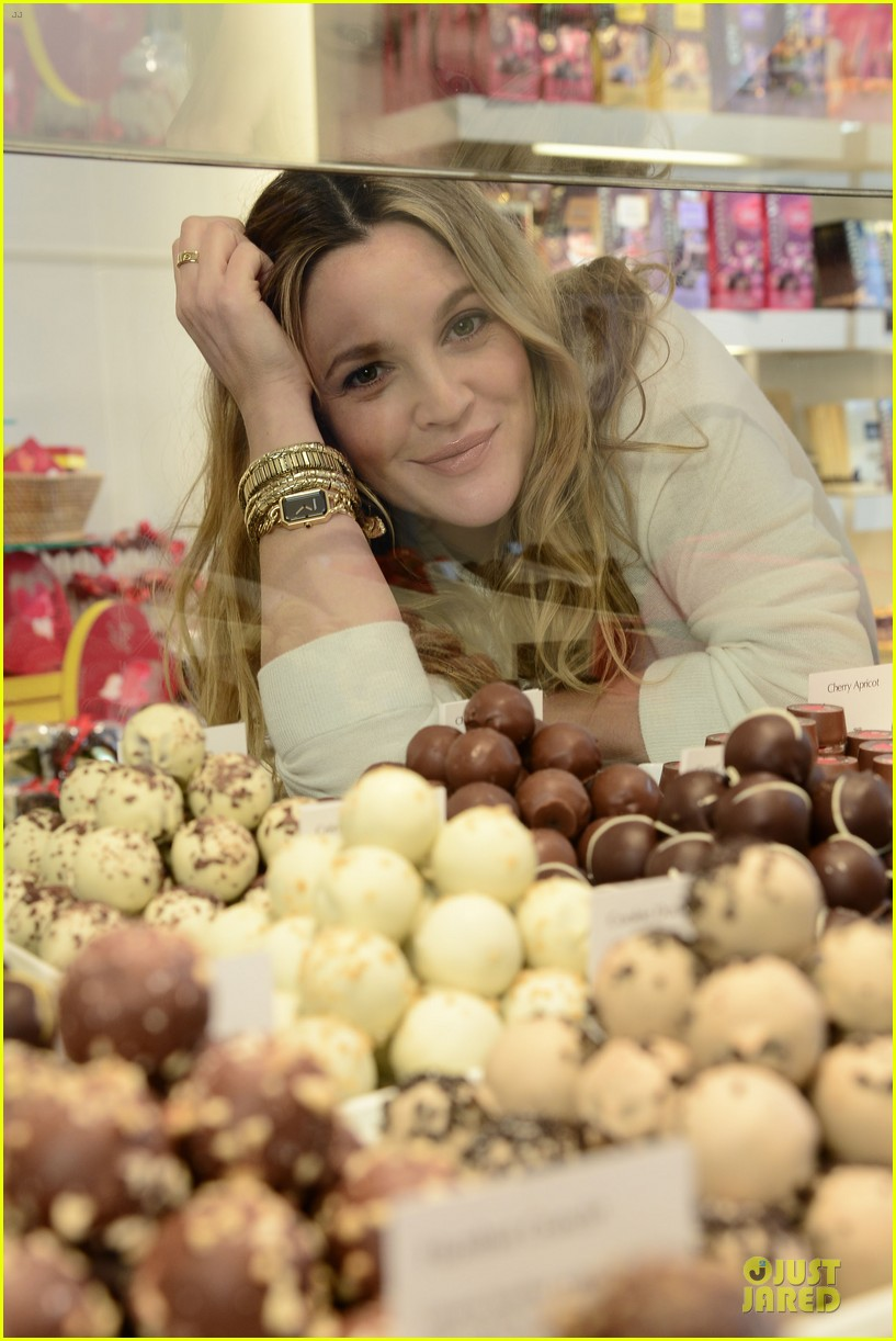 drew barrymore partners with godiva to launch new book 053044232
