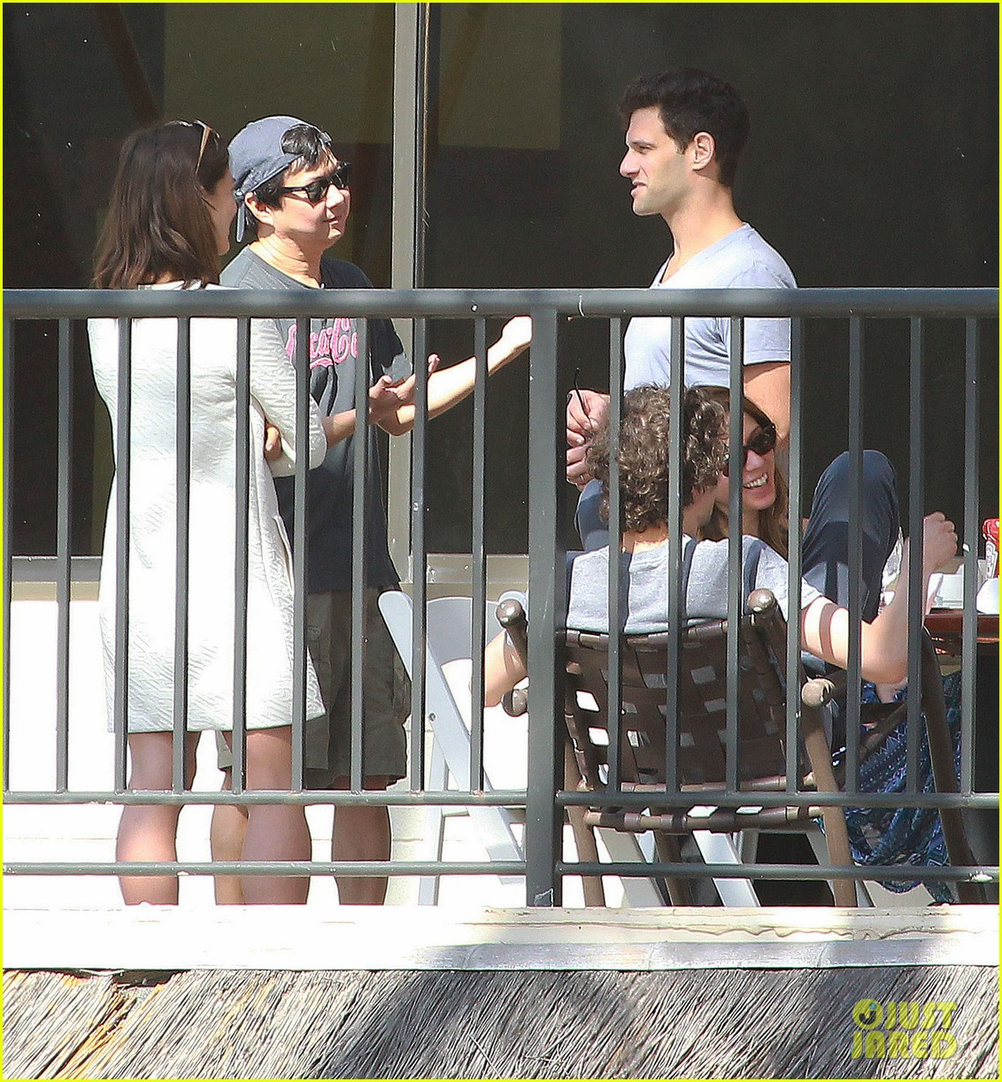 justin bartha new wife lia smith relax after wedding 053023898
