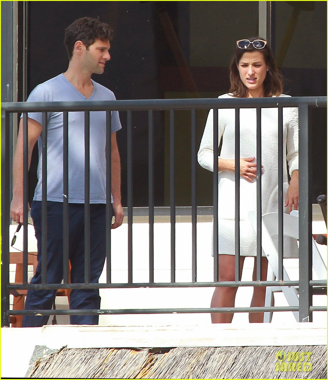 justin bartha new wife lia smith relax after wedding 093023902