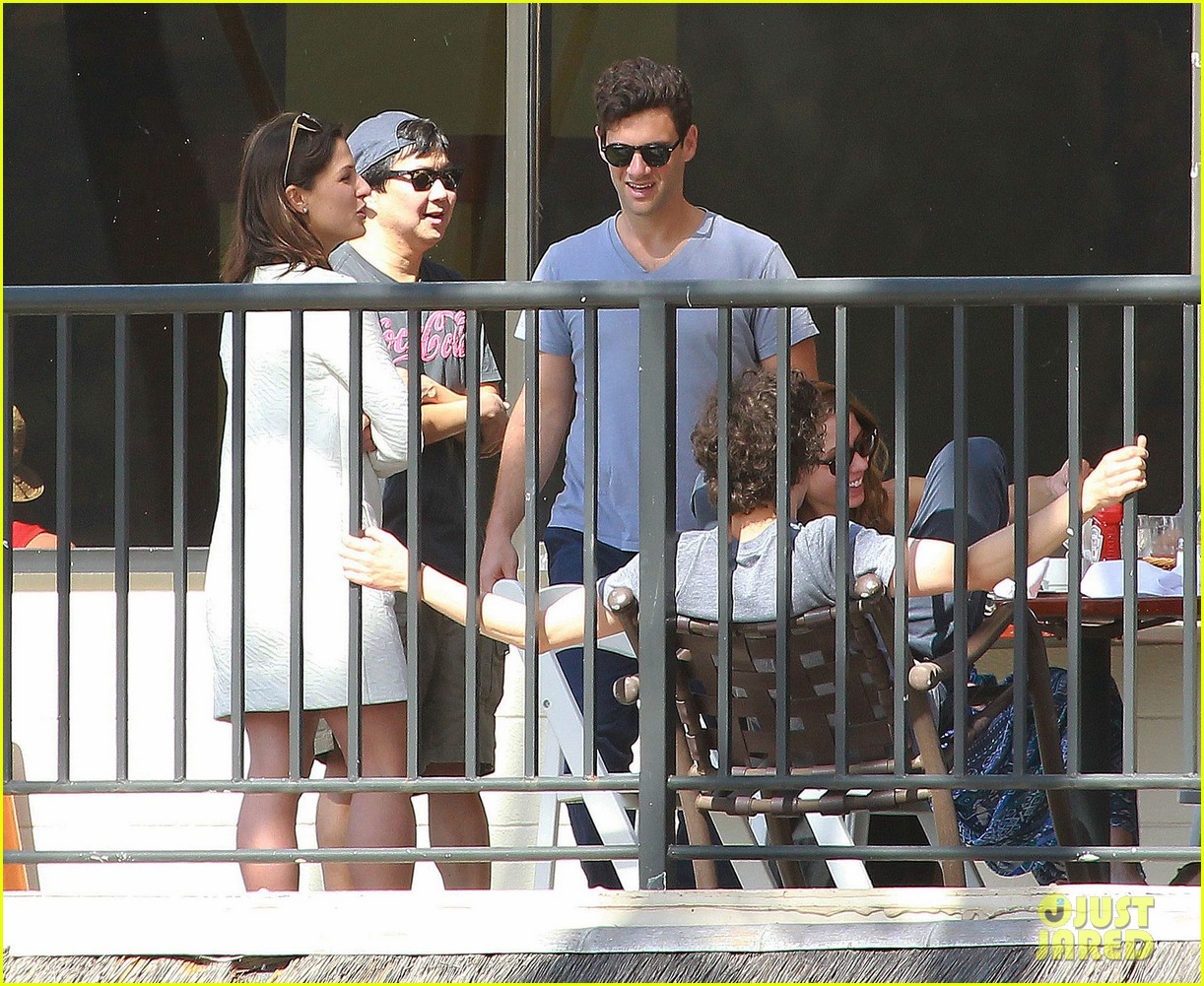 justin bartha new wife lia smith relax after wedding 173023910