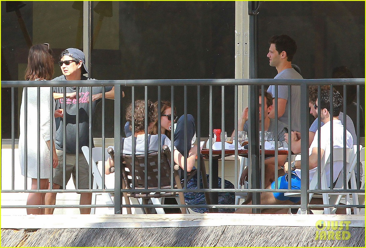 justin bartha new wife lia smith relax after wedding 213023914