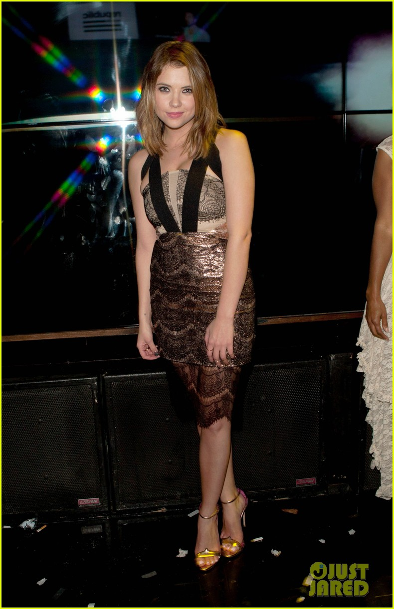 ashley benson paris hilton republic records grammys party 053042033