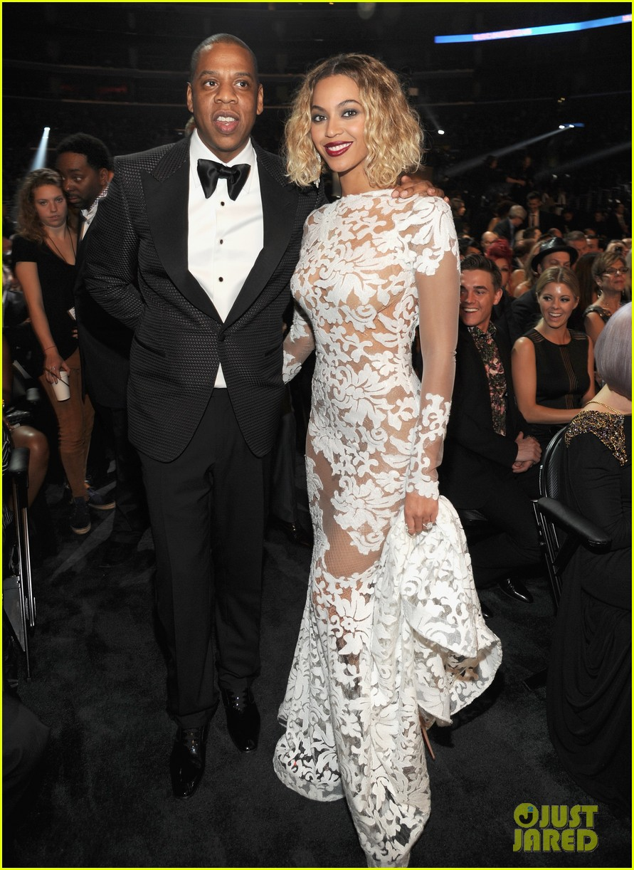 beyonce wears sexy sheer white dress at grammys 2014 053041401