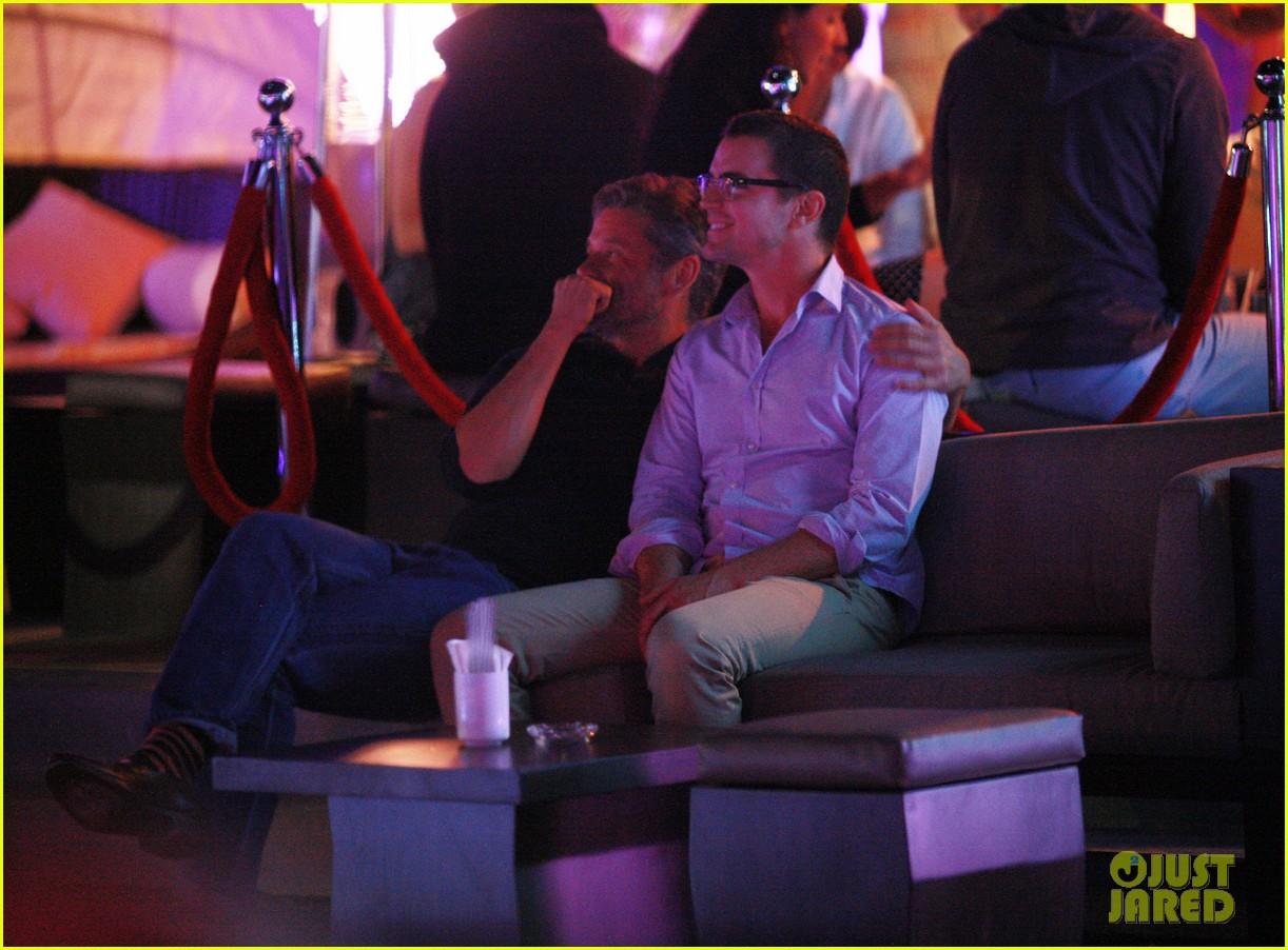 Matt Bomer Cuddles With Simon Halls At Cabo Birthday