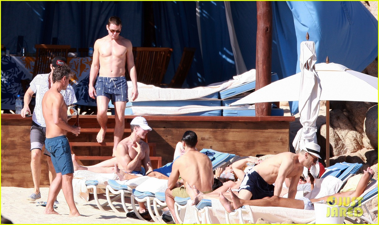 matt bomer shirtless sexy cabo vacation with simon halls 173035178
