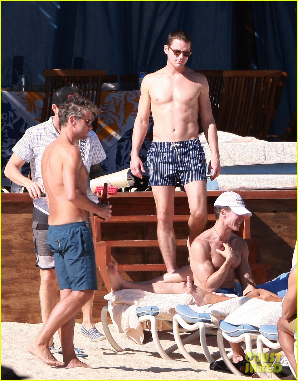 matt bomer shirtless sexy cabo vacation with simon halls 183035179