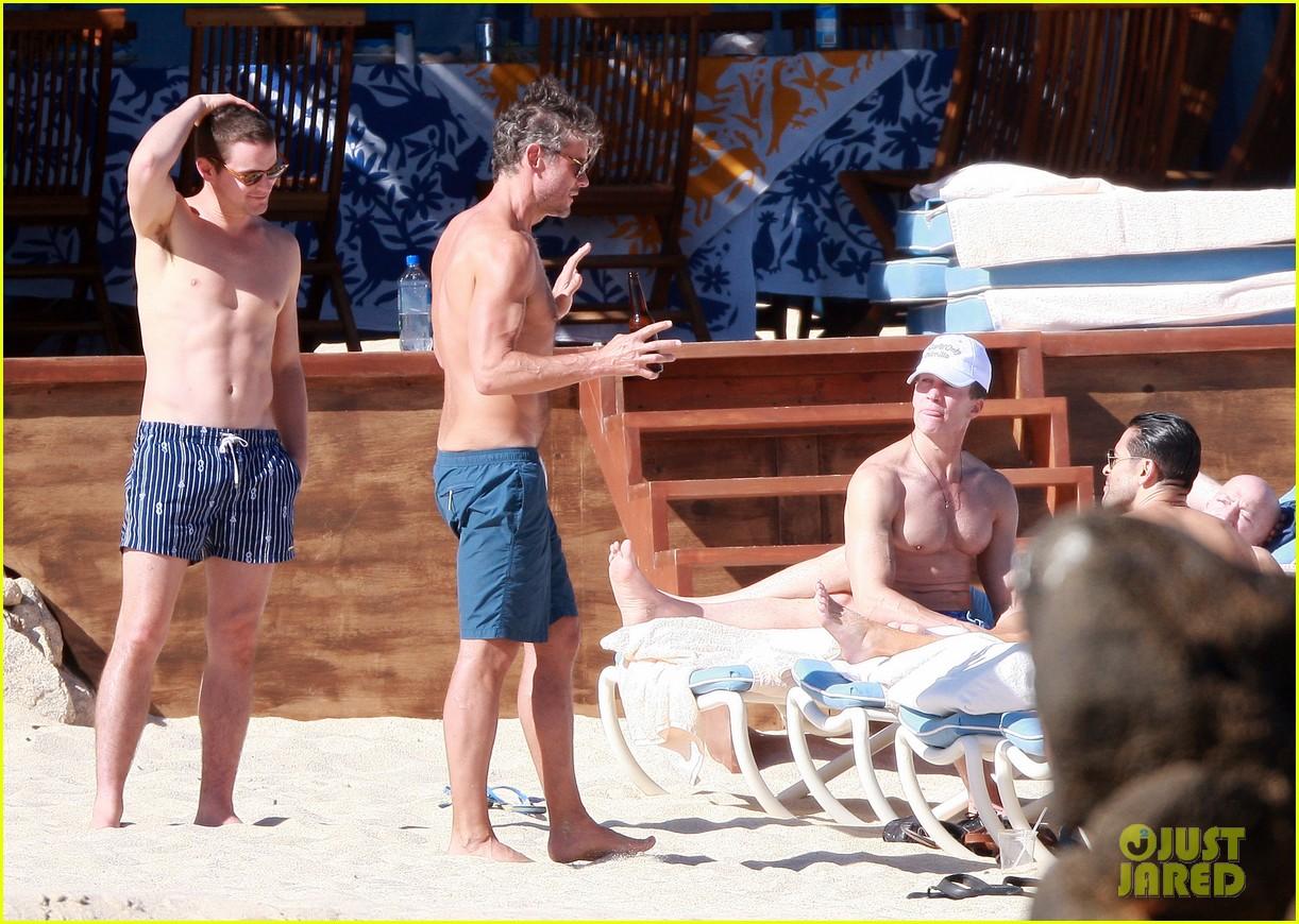 matt bomer shirtless sexy cabo vacation with simon halls 313035192